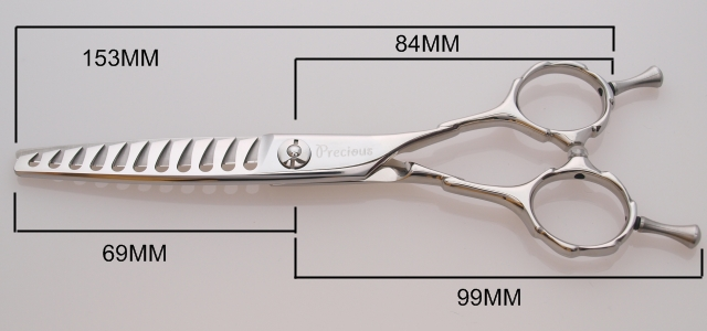 美容師・理容師用セニング PWR11の寸法