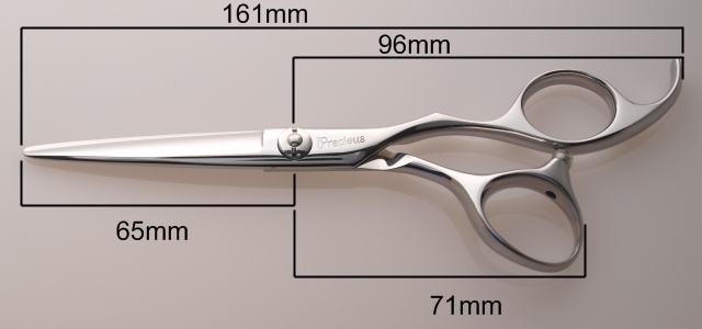 SKA-55の寸法 美容師用ハサミ